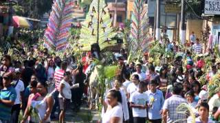 Domingo de Ramos en Nahuizalco