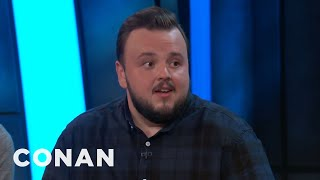 John Bradley Compares Kit Harington To The Mona Lisa  - CONAN on TBS