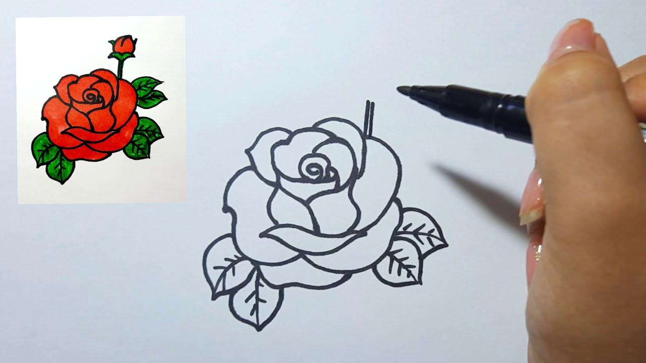 Cách vẽ Hoa Hồng (P3) Rất Đơn Giản  II Ong mật mỹ thuật   Khái quát các thông tin liên quan đến cách vẽ hoa hồng đơn giản nhất đúng nhất