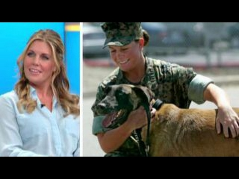 Real-life Marine fought the military to keep her hero dog