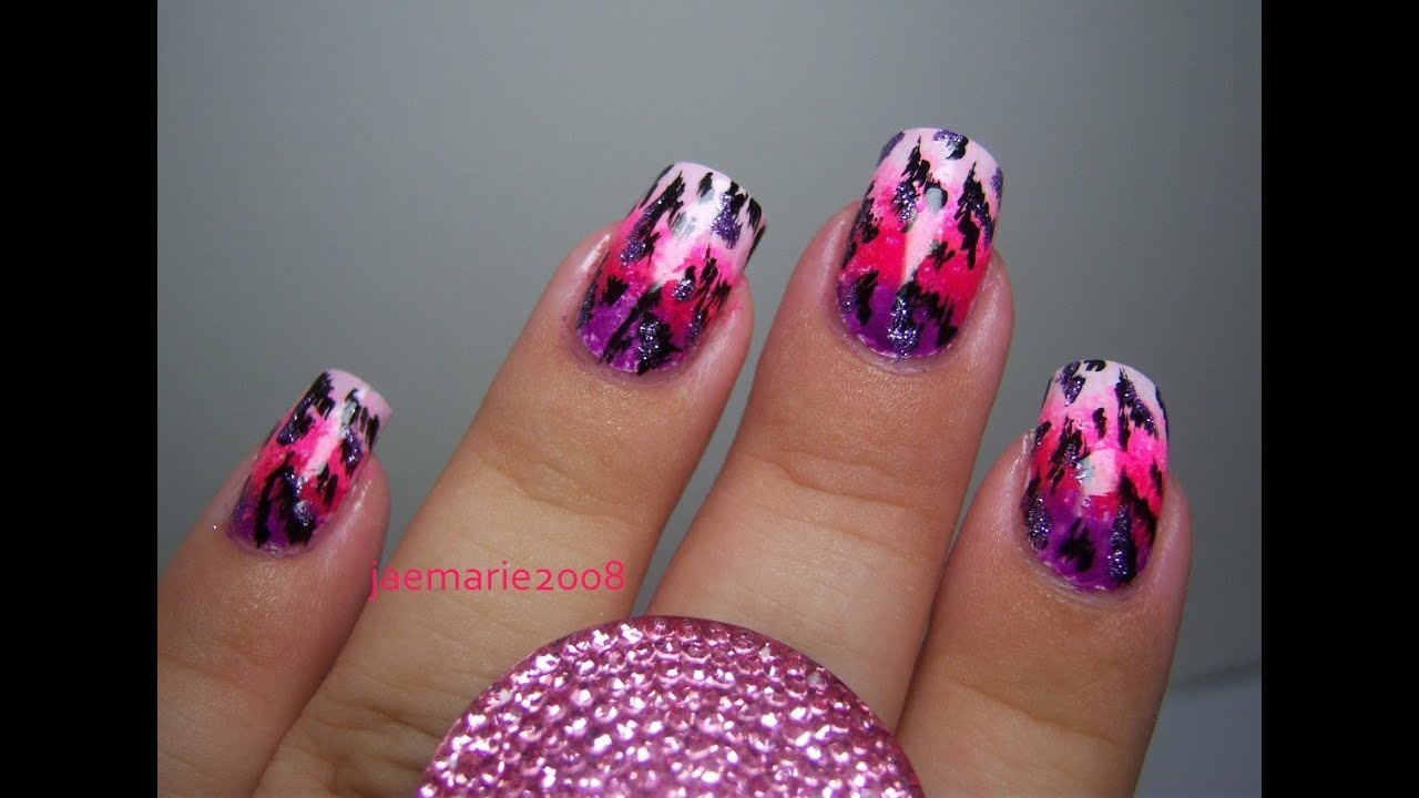 - Sexy Wild Cat Print- Nail Design - YouTube