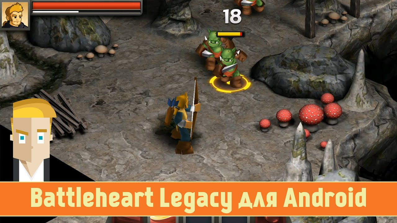 обзор Battleheart Legacy для Android от Game Plan Youtube