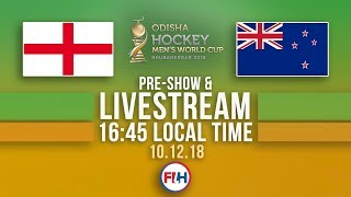England v New Zealand | 2018 Men's Hockey World Cup | FULL MATCH LIVESTREAM