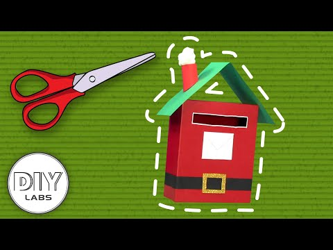 CHRISTMAS MAILBOX | Christmas Paper Box Craft Decoration | Fast-n-Easy | DIY Labs