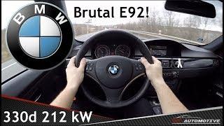 BMW 330d TUNED (E92) 2007 POV Test Drive + Acceleration 0 - 230 km/h