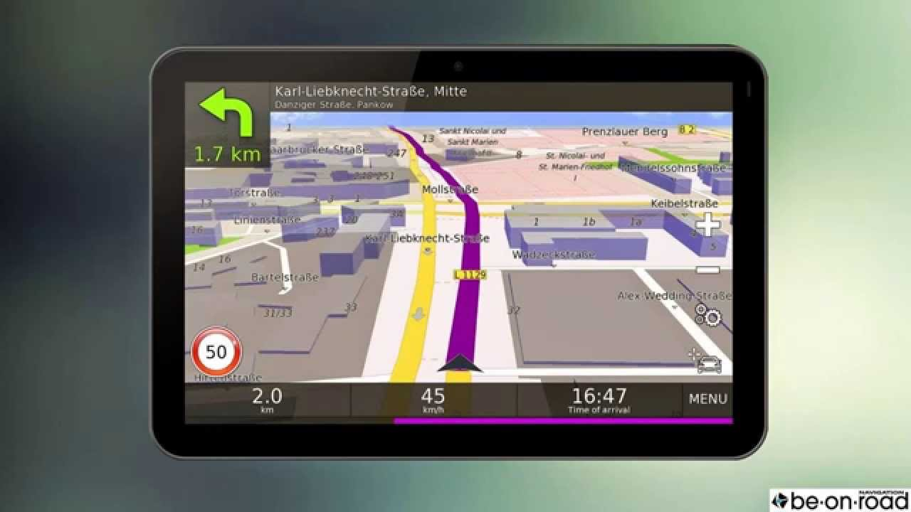 Download GPS Navigation BE ON ROAD for android