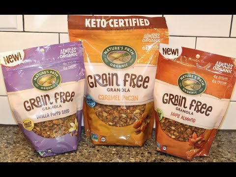 Nature's Path Organic Grain Free Granola: Vanilla Poppy Seed, Caramel Pecan, Maple Almond
