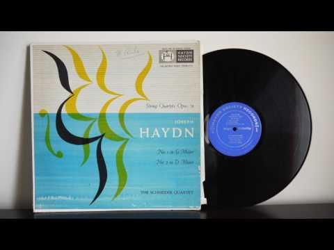 The Schneider Quartet – Haydn String Quartet Opus 76 Nos  1 & 2 (195?)  Haydn Society – HS-9053