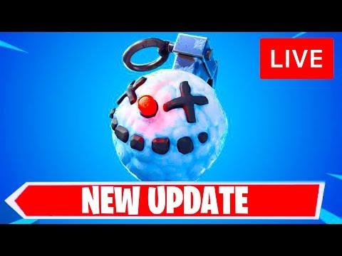 🔴 [LIVE] *NEW* FORTNITE UPDATE! NEW CHILLER GRENADE & COBALT STARTER PACK! (FORTNITE BATTLE ROYALE) thumbnail