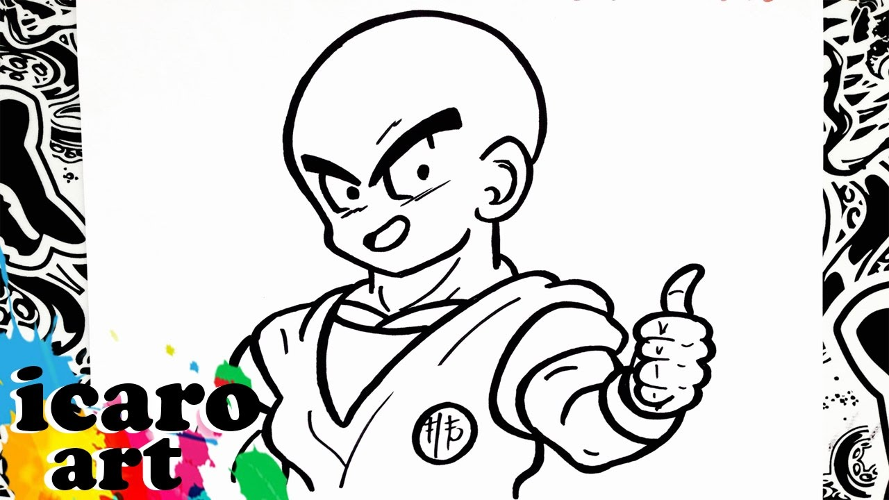 How To Draw Krillin - YouTube