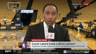 Stephen A. Smith HEART ATTACK: Could Lakers trade LeBron James? | ESPN SportsCenter