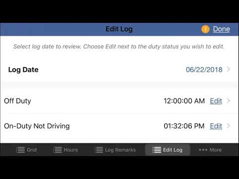iPhone® and iPad® Editing and Adding Log Events - KellerMobile® ELD