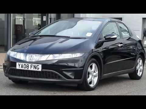 2008 08 Plate Honda Civic 2.2 I-cdti Se 5dr In Black
