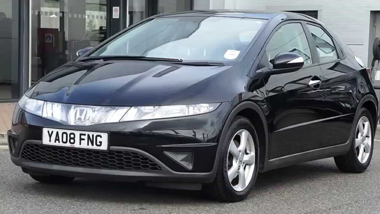 2008 08 plate honda civic 2 2 i cdti se 5dr in black