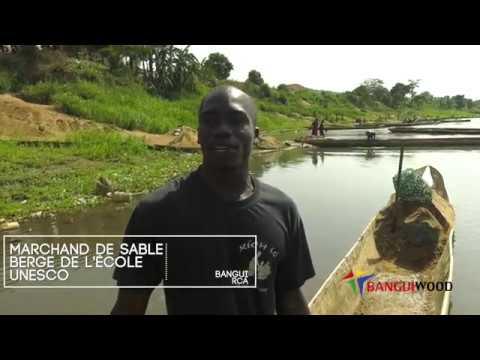 Les travailleurs du sable à Bangui