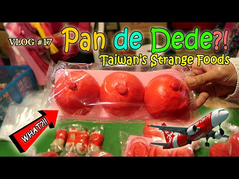 PAN DE DEDE?! Strange Foods in Taipei Night Market - WANT 2 FREE TICKETS TO TAIWAN? | Vlog #17