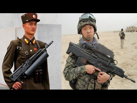 Korean Weapons : North Korea vs South Korea - Infantry Weapons - youtube ✔