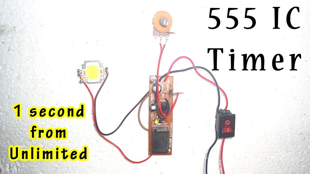 how to make ne555 timer 1 second from unlimited timer circuit use ic 555 [ 1280 x 720 Pixel ]