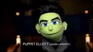 Exclusive Glee Video: Chris Colfer, Darren Criss, Adam Lambert Get 'Felt Up' in Puppet Promo