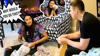 Destroying My Girlfriends Stuffed Bunny And Surprising Her WITH A REAL ONE! EMOTIONAL!