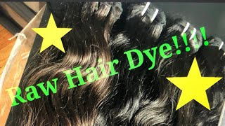 WIG CLASS 120- Coloring Raw Hair that comes in different shades