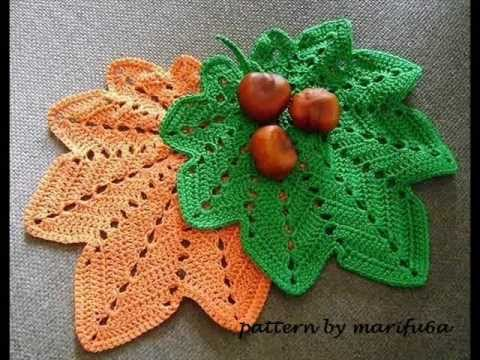 How To Crochet Hot Paddoily Autumn Leaf Pattern For Beginner Youtube