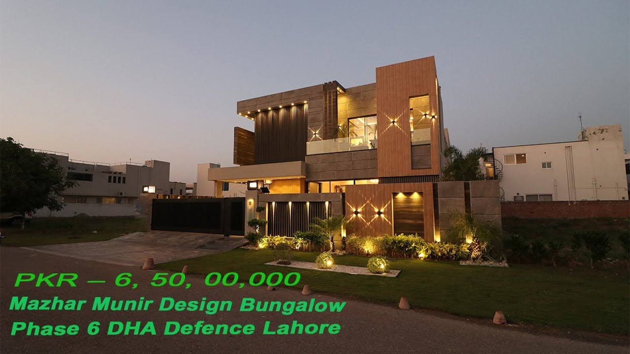 1 Kanal Ultimate Luxurious - Mazhar Munir Design House Phase 6 DHA Lahore Price 6.50 Crore | H No 21