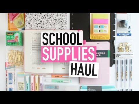 BACK-TO-SCHOOL SUPPLIES HAUL | University Stationery Essentials