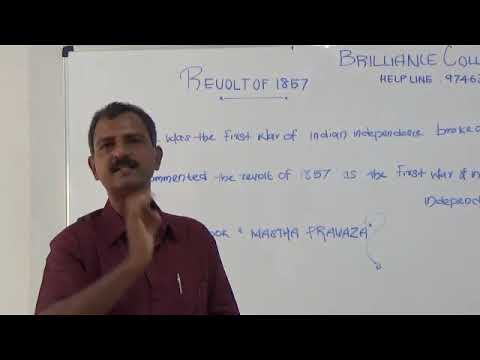 INDIAN HISTORY : REVOLT OF 1857