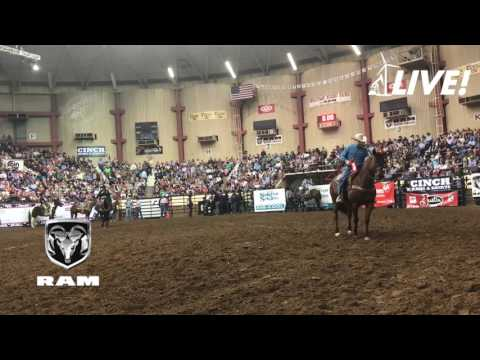 San Angelo Tie-Down Roping by Ty Harris of San Angelo, Texas. First Round 7.25 sec.