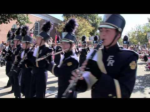 Franklin Regional Panther Marching  Band in 2017 Ligonier Parade.