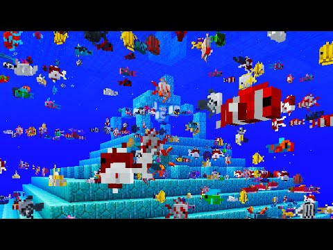 How To Get ALL CUSTOM TROPICAL FISH (Tropical Fish Generator) Minecraft Tutorial