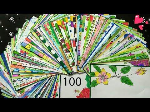 100 Border Designs Compilation | Amazing Border Design | Project File Decoration Ideas
