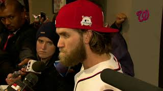 Bryce Harper comments on Jayson Werth's impact on the Nationals