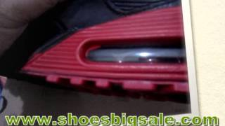 To Buy Mens Air Max 90 Running Shoes Online Sale Black Red