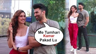 Disha patani Making Fun With Aditya roy kapur Malang Movie promotion