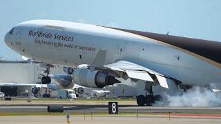 10 SMOKEY TOUCHDOWNS | Louisville Airport Plane Spotting