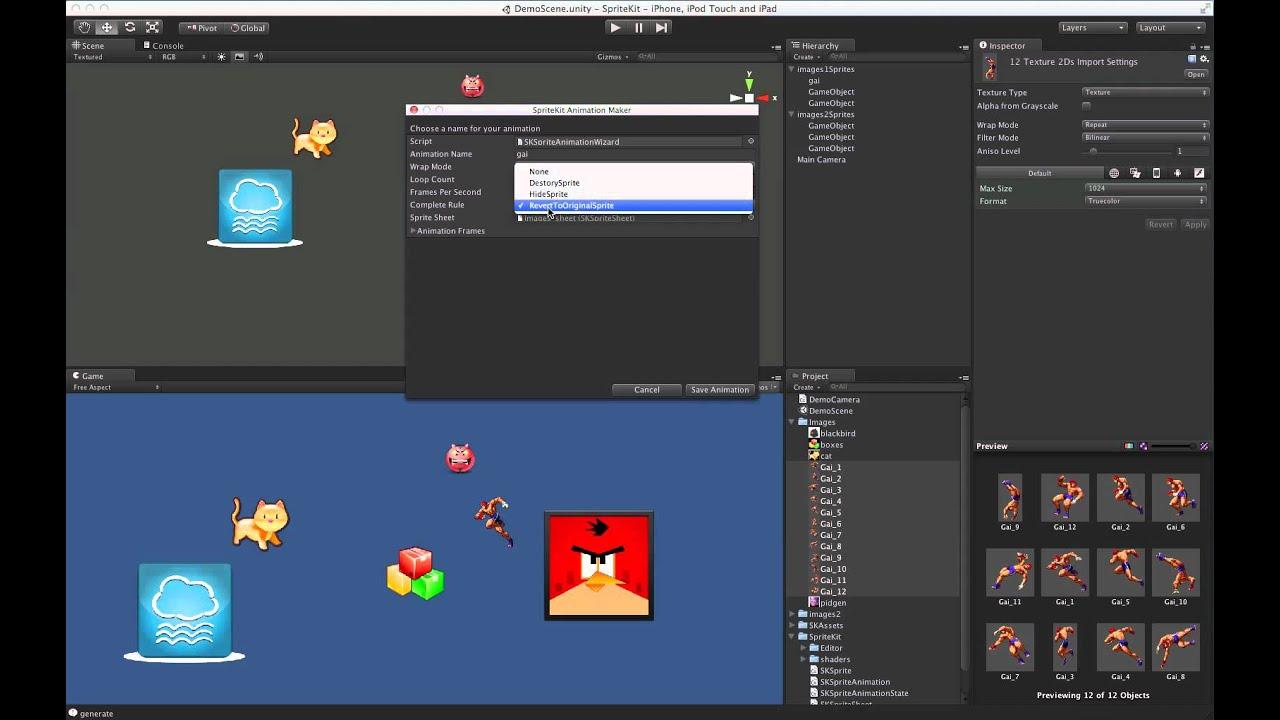 Prime31 SpriteKit: 2D Sprite Atlas Editor Extension with Sprite Animation  Support