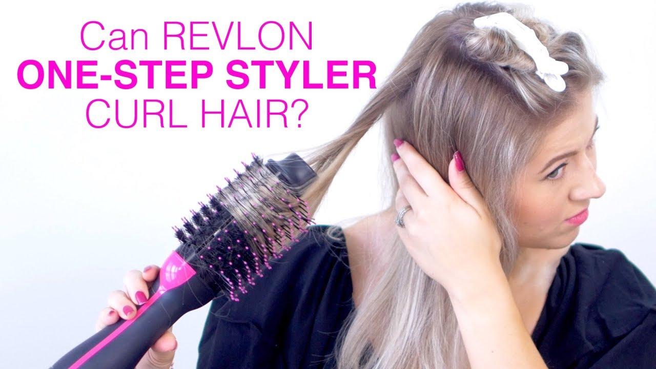 Can Revlon One Step Hair Dryer Curl Hair Youtube