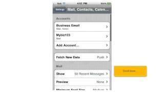 Hoe bekijk en bewerk ik mijn e-mailinstellingen op mijn iPhone?