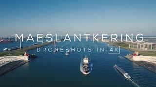 Maeslantkering (Hoek van Holland) in 4K | Drone video