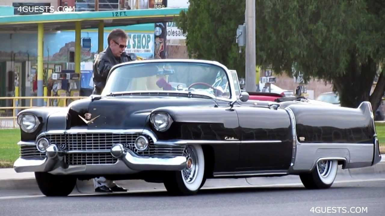 1950s CADILLAC ELDORADO CONVERTIBLE CAR - YouTube