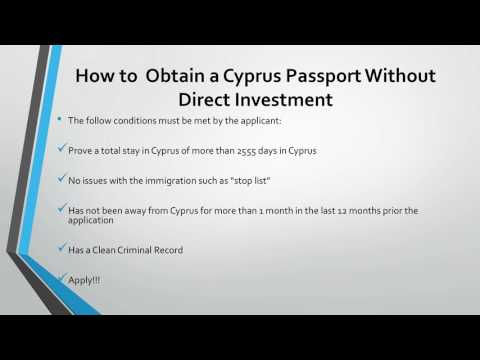 How to Acquire a Cyprus Passport Without Direct Investment