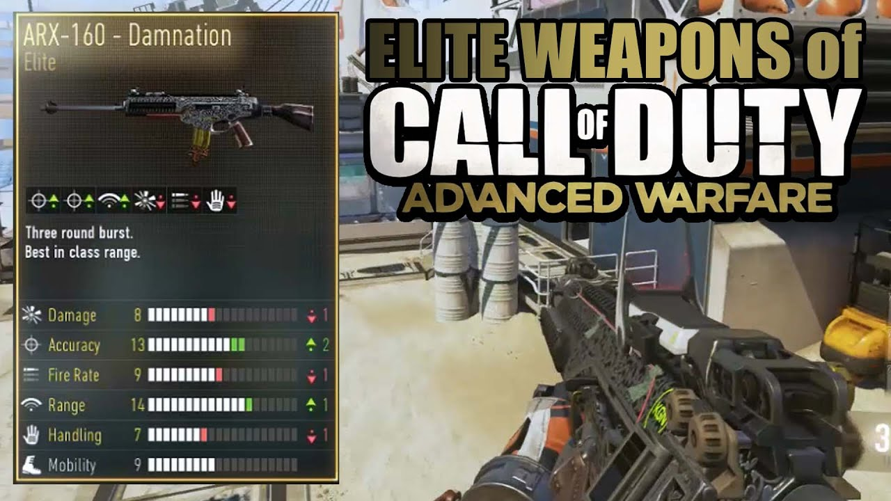 Elite weapons of aw quot arx 160 damnation quot call of duty advanced