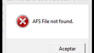"Como solucionar ""AFS FILE not found"" para pes 6 full"