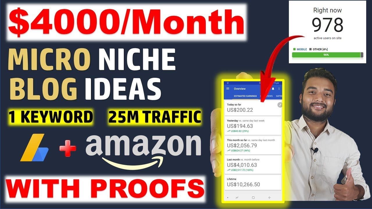 Earn $4000/Month From MICRO NICHE BLOGGING WEBSITE TOPICS/IDEAS & Case Study image