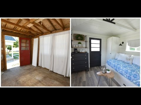 A Garden Shed Is Transformed Into Guest House On Time Lapse See Faqs In Description