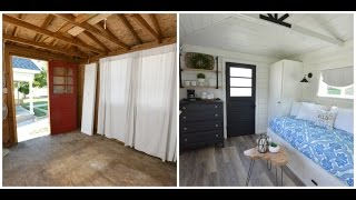 A Garden Shed Is Transformed Into A Guest House On Time Lapse See Faqs In Description