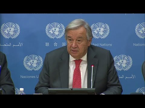 António Guterres (UN Secretary-General) - Press Conference (13 September 2017)