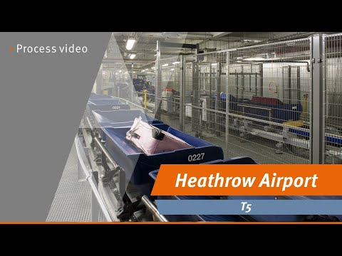 Vanderlande baggage handling system at London Heathrow T5